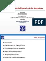 Presentation on Implications of the Rohingya Crisis for Bangladesh