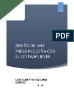 Diseño de Una Presa Pequeña Con El Softwar River