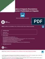 Impacto Economico de La Produccion Publicitaria en Espana
