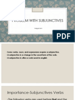 Problem With Subjunctives
