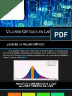 Valores criticos en laboratorio