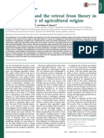 Particularism and the retreat from theory in the archaeology of agriculture origins