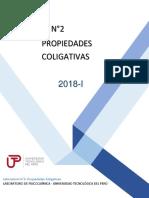 GUÍA N°2 PROPIEDADES COLIGATIVAS
