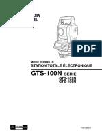 Manuel Du Topcon GTS100
