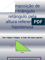 Decomposição de Um Triângulo Retângulo Pela Altura Referente à Hipotenusa (1)