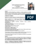 Curriculum Vitae Javier Coronado Bautista