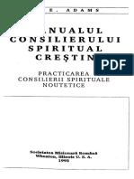 Manualul Consilierului Spiritual Crestin de Jay E. Adams