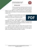 Informe Enayos-tecnologia de l Concreto - Universidad Nacional de Jaen