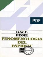 Fenomenología Del Espiritu