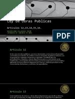 LEY DE OBRAS PUBLICAS ARTICULO 12-16