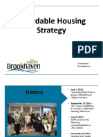 Brookhaven AHTF Recommendations Updates