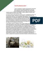 Que Es La Pasteurizacion
