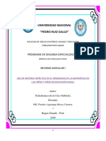 Informe modular de Educación Inicial
