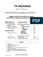 APA Stylesheet