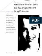 A Comparison of Shear Bond Strengths Among Different Self-Etching Prirmers