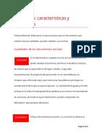 Redacción, Características y Cualidades