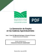 la generacion deEmpleo en las cadenas Agroindustriales