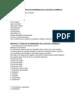 MÉTODOS Y TÉCNICAS DE ENSEÑANZA EN LA ESCUELA DOMINICAL.docx