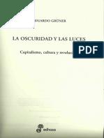 Eduardo GRUNER - La Oscuridad y Las Luces. Introduccion