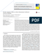 Seismic Sequence Effects on Three-dimensional Reinforced