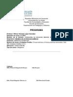 Programa de Asignatura Dinamica de Los Procesos Químicos
