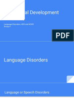 language disorders, symptoms, and treatments