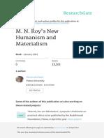 M.N.roysNewHumanismandMaterialism