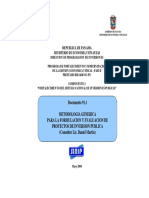 01 2 metodologia generica Para La Formulacion y Evaluacion de PIP