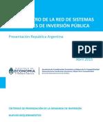 Argentina_-_Criterios de Priorizacion de Inversion