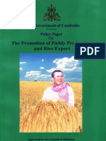 Policy Paper on the Promotion of Paddy Production and Rice Export-EnG