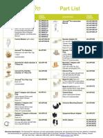 Aeroneb Pro Part List PM106