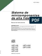 Manual en Español Equipo Sonido Sony Lbt - Lt8