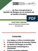 Peru_-_El SNIP y La Gestion de Riego
