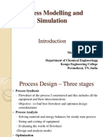Process Modelling and Simulation - Introduction