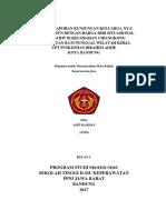 Resume Laporan Kunjungan Keluarga Ny. s