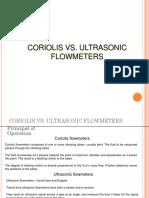 Coriolis vs. Ultrasonic Flowmeters