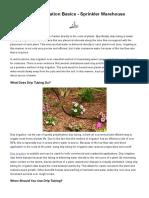 Drip Tubing & Irrigation Basics - Sprinkler Warehouse