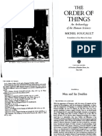 """Foucault 2, OrderOfThings- """"Man and His Doubles"""" and """"Human Sciences"""" 344-55, 386-7"""