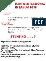 Stunting 2017 Dalam Hgn 2018