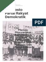 Manifesto Partai Rakyat Demokratik (PRD) 2010