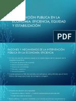 Intervención Publica en La Economía Eficiencia