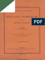 N.iorga - Răscoala Seimenilor in Potriva Lui Mateiu Basarab