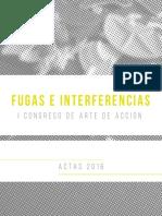 Fugas e Interferencias Congreso Performance Arte de Acción