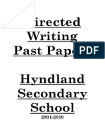 Directed Writing Past Papers