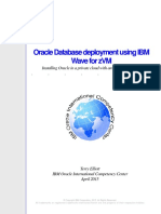 Oracle Database Deployment Using IBM Wave for ZVM