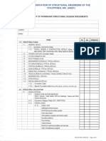 ASEP Checklist of Minimum Structural Design Documents