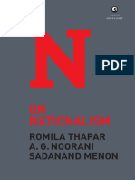 On Nationalism by Romila Thapar