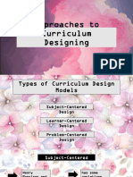 Approaches to Curriculum Designing