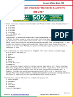 Current Affairs December Question & Answer 2017 PDF by AffairsCloud