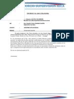 Informe Siruasional Nº 025-De Supervisor de La Obra 2018